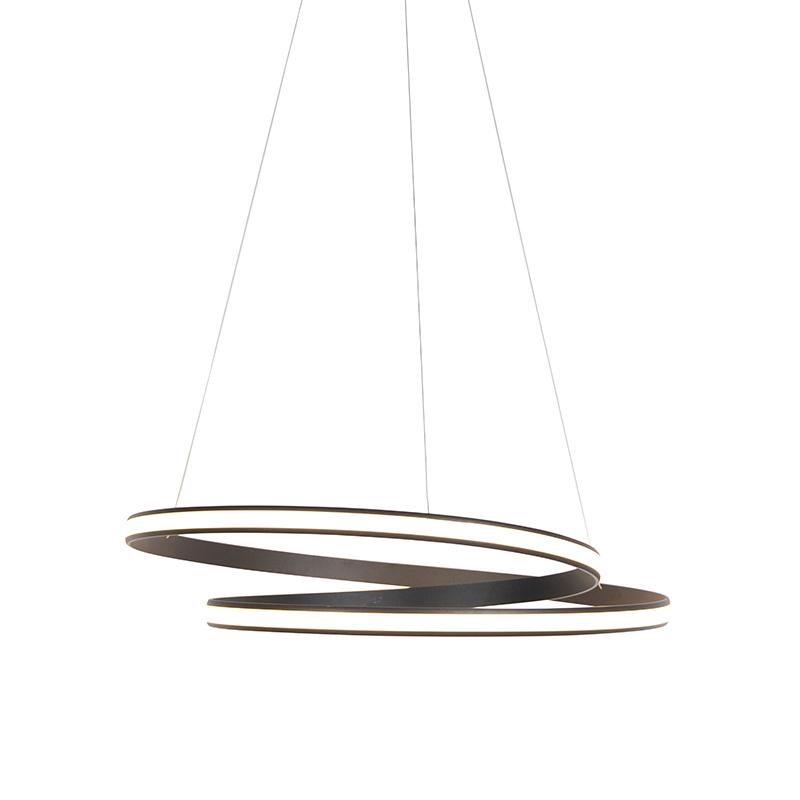 Moderne hanglamp zwart 74cm incl. LED 3 staps dimbaar - Rowan