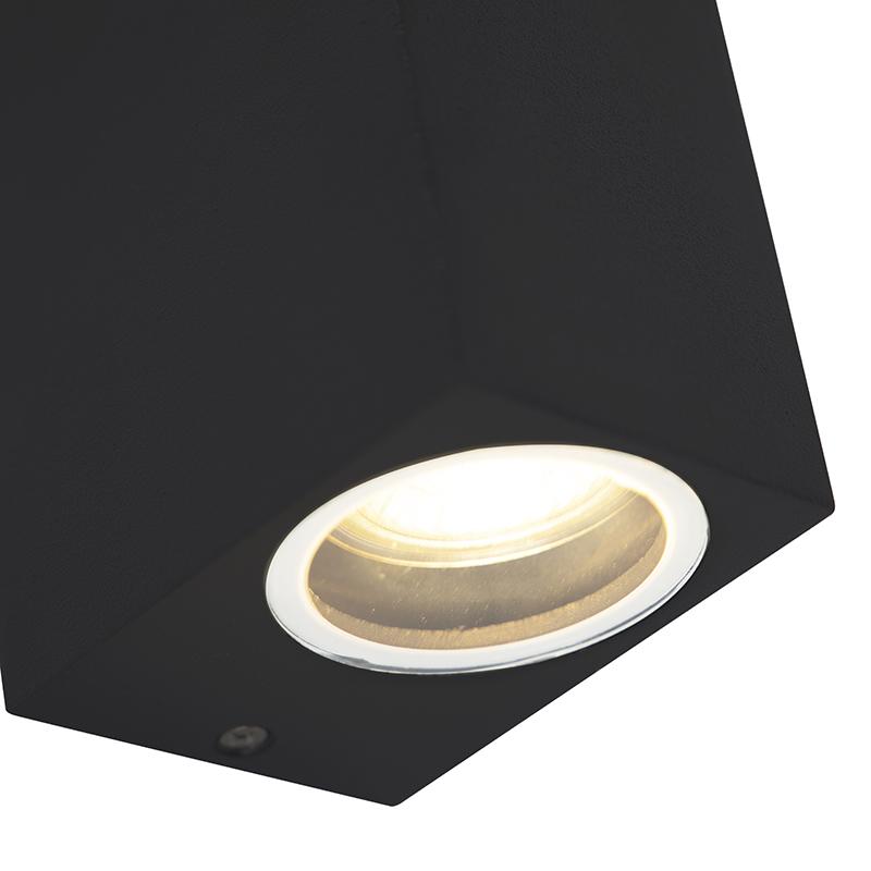Set van 2 moderne wandlampen zwart IP44 - Baleno II