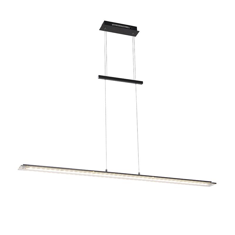 Design hanglamp zwart 135 cm incl. LED 3 staps dimbaar- Cavolo