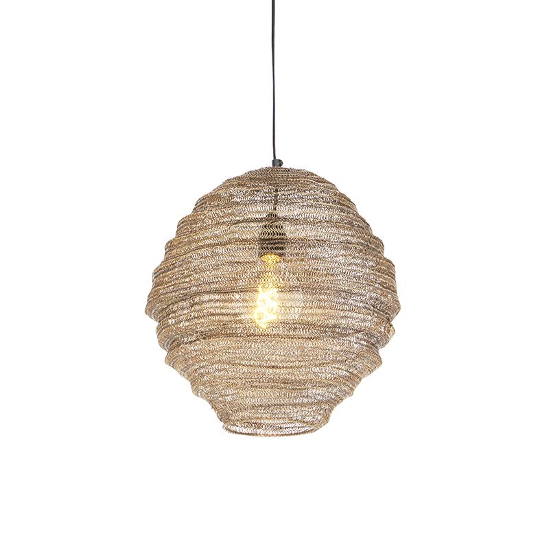 Oosterse hanglamp messing 35 cm - Nidum Mena