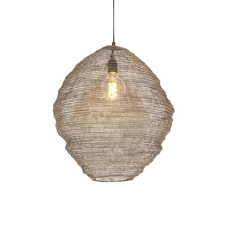 Orientalna lampa wisząca mosiądz 46cm - Nidum Mena