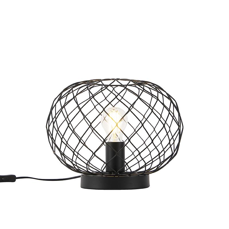 Art Deco tafellamp zwart - Helian