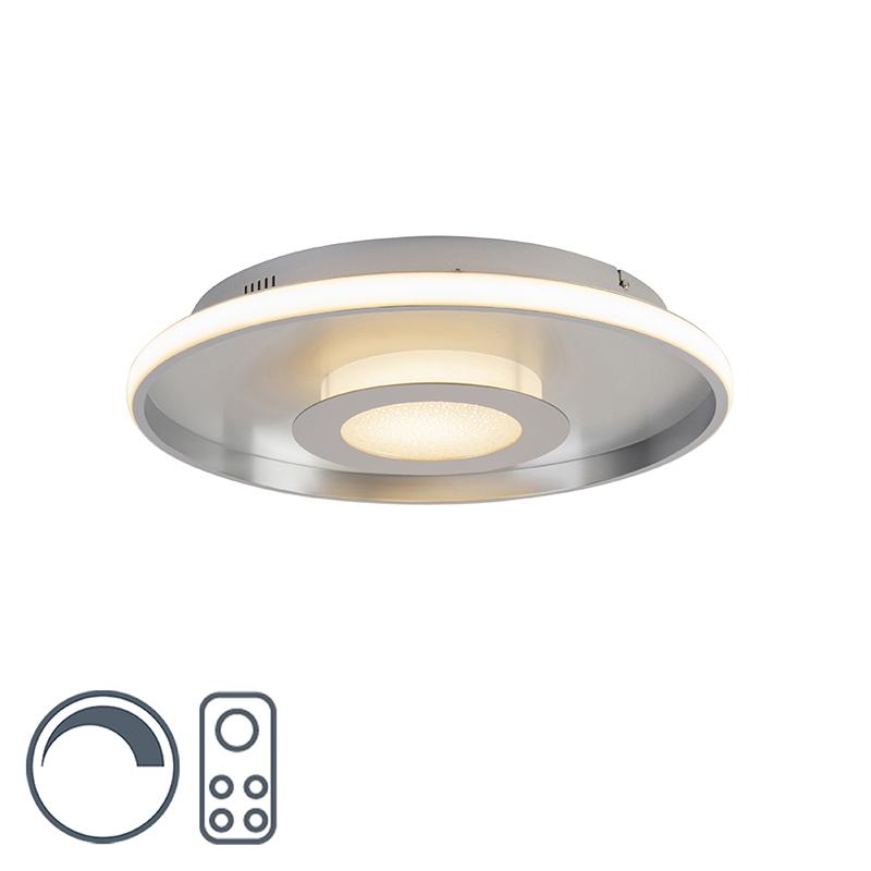 Plafonnière aluminium 44 cm incl. LED met afstandsbediening - Oculus