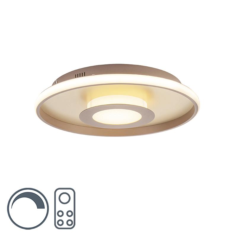 Plafonnière goud 45 cm incl. LED met afstandsbediening - Oculus
