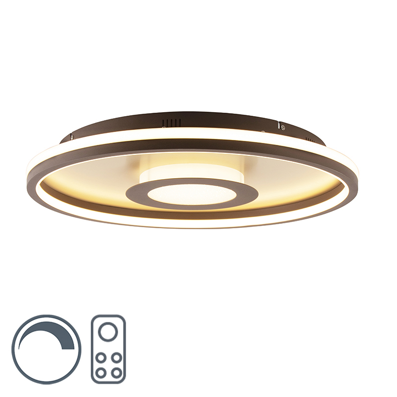 Plafonnière goud 59 cm incl. LED met afstandsbediening - Oculus