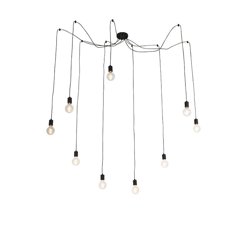 Lampa wisząca czarna 9-źródeł światła - Cavalux