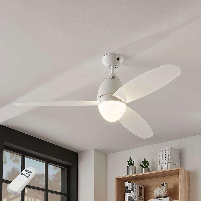Design plafondventilator wit met afstandbediening - Piara