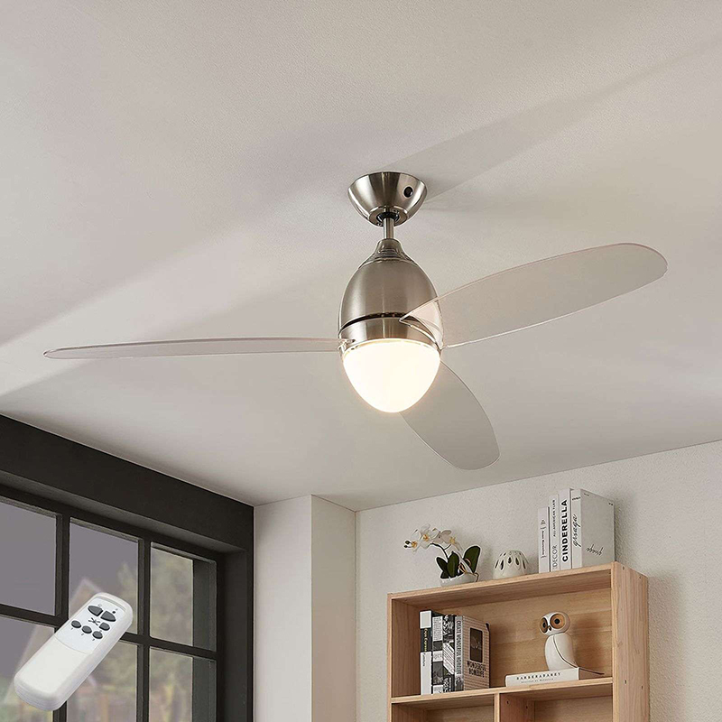 Design plafondventilator zilver met afstandbediening - Piara