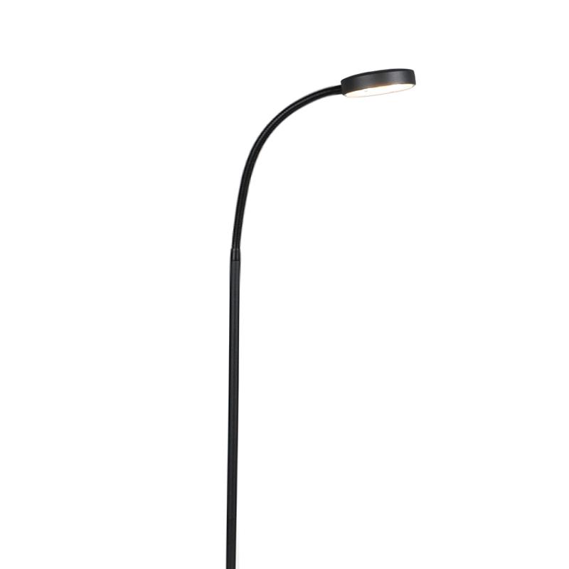 Nowoczesna lampa stojąca czarna w tym LED - Trax