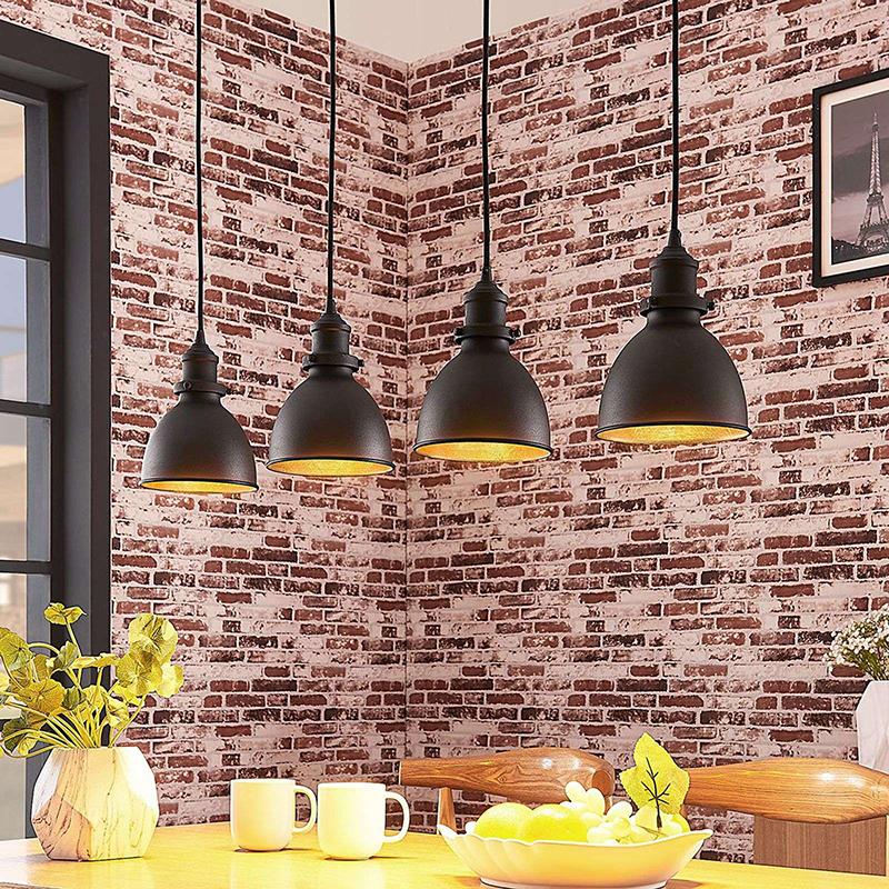 Industri�le hanglamp zwart 150 cm 4-lichts - Jasminka