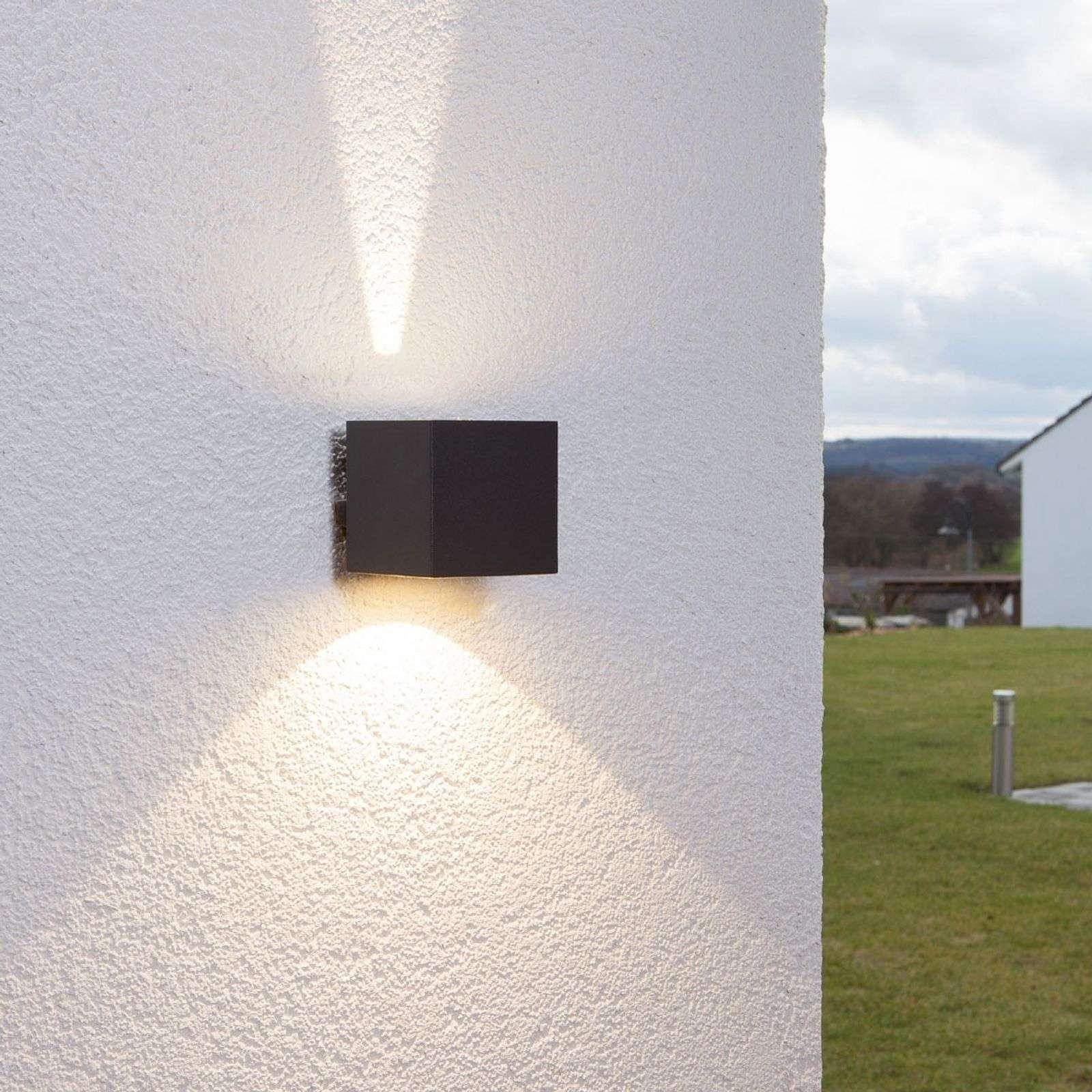 Moderne kubus buitenlamp zwart incl. LED - Jarno