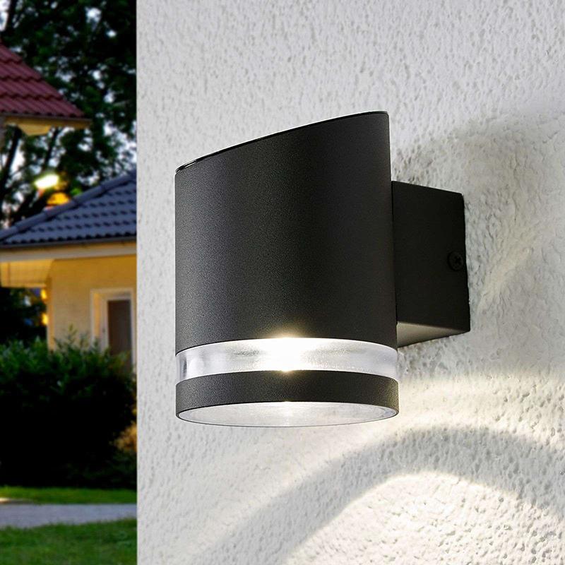 Buiten wandlamp antraciet incl. LED op solar - Melinda