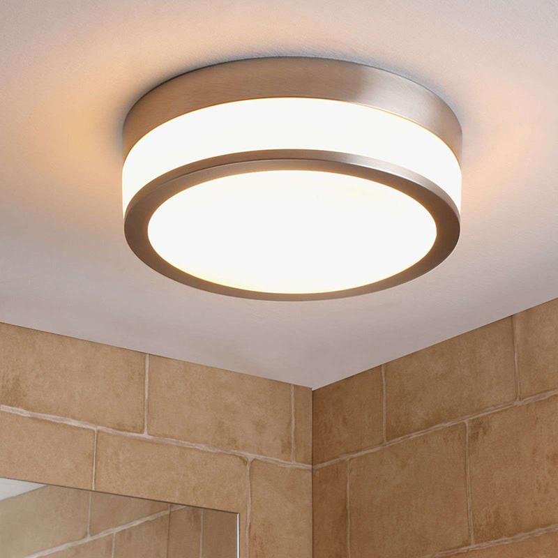 Klassieke ronde plafondlamp zilver incl. vervangbare LED - Flavi