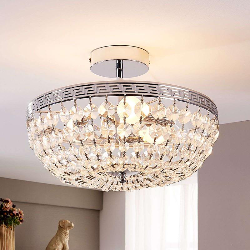 Klassieke plafondlamp kristal - Mondrian