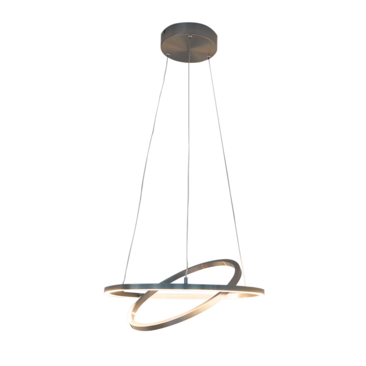 Moderne hanglamp aluminium 2-lichts incl. LED en dimmer - Lovisa