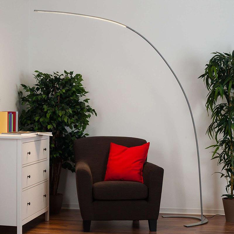 Moderne booglamp aluminium incl. LED en dimmer - Piegato
