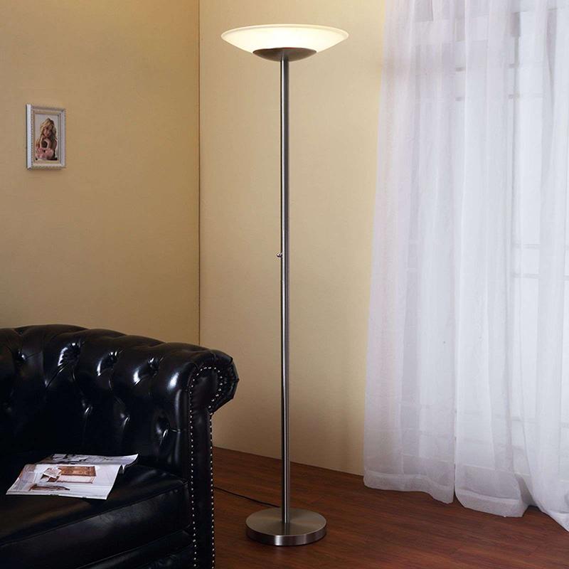 Klassieke vloerlamp aluminium incl. LED en dimmer - Ragna