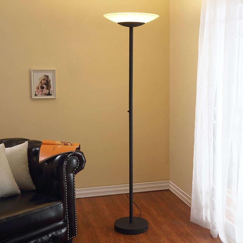 Klassieke vloerlamp antraciet incl. LED en dimmer - Ragna