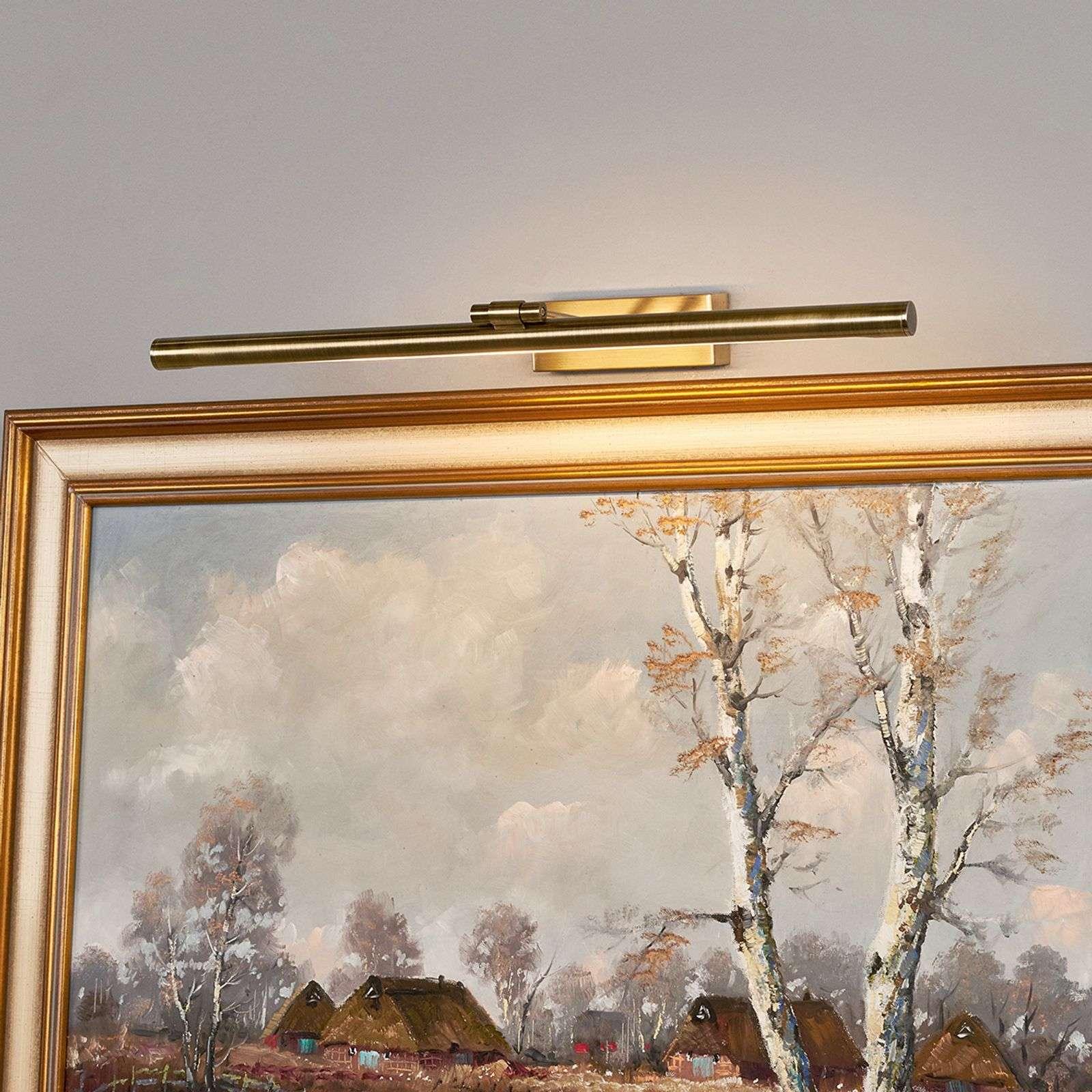 Klassieke wandlamp messing schilderijverlichting incl. LED - Merte