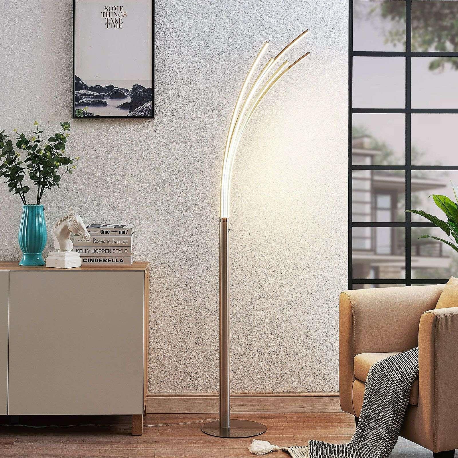 Design vloerlamp aluminium incl. LED - Boba