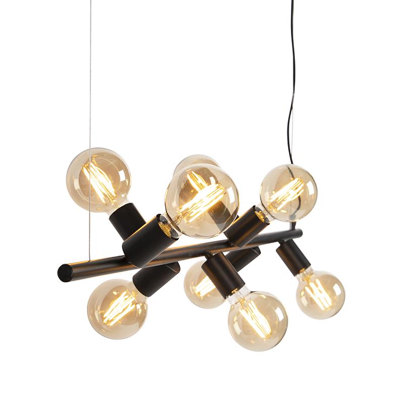 Skandynawska lampa wisząca czarna 8-punktowa - Facil Tube