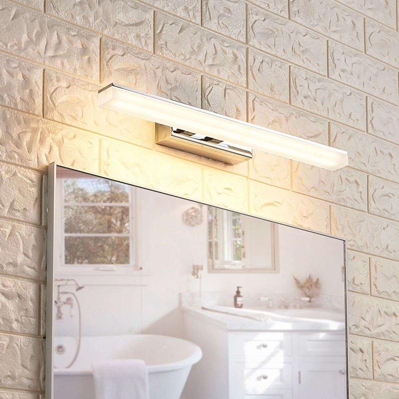 Moderne badkamerlamp chroom 46 cm incl. LED IP44 - Julie