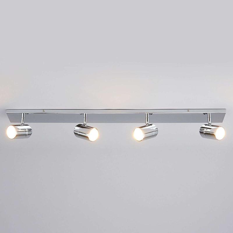 Moderne 4-lichts badkamerlamp chroom IP44 - Dejan