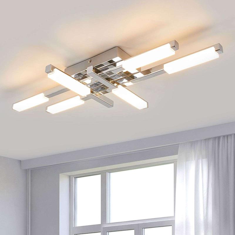 Moderne badkamerlamp 6-lichts chroom incl. LED - Patrik