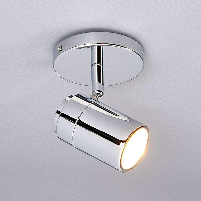 Moderne 1-lichts badkamerlamp chroom - Dejan