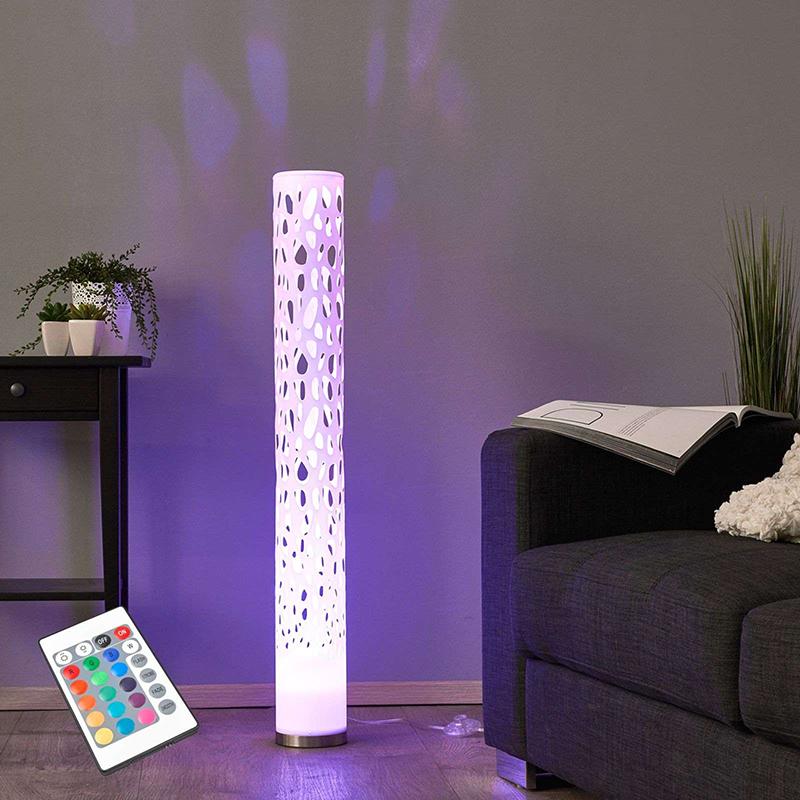 Designowa lampa podłogowa z oświetleniem LED RGB i pilotem - Alisea