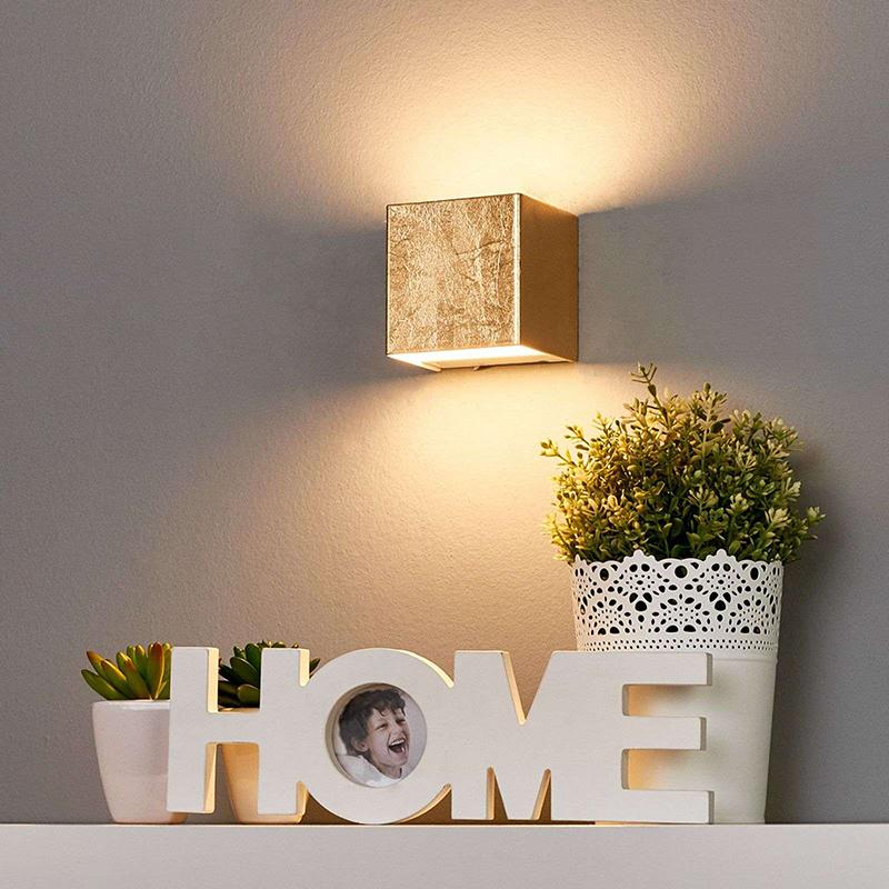 Romantische wandlamp goud 9 cm incl. LED - Quentin