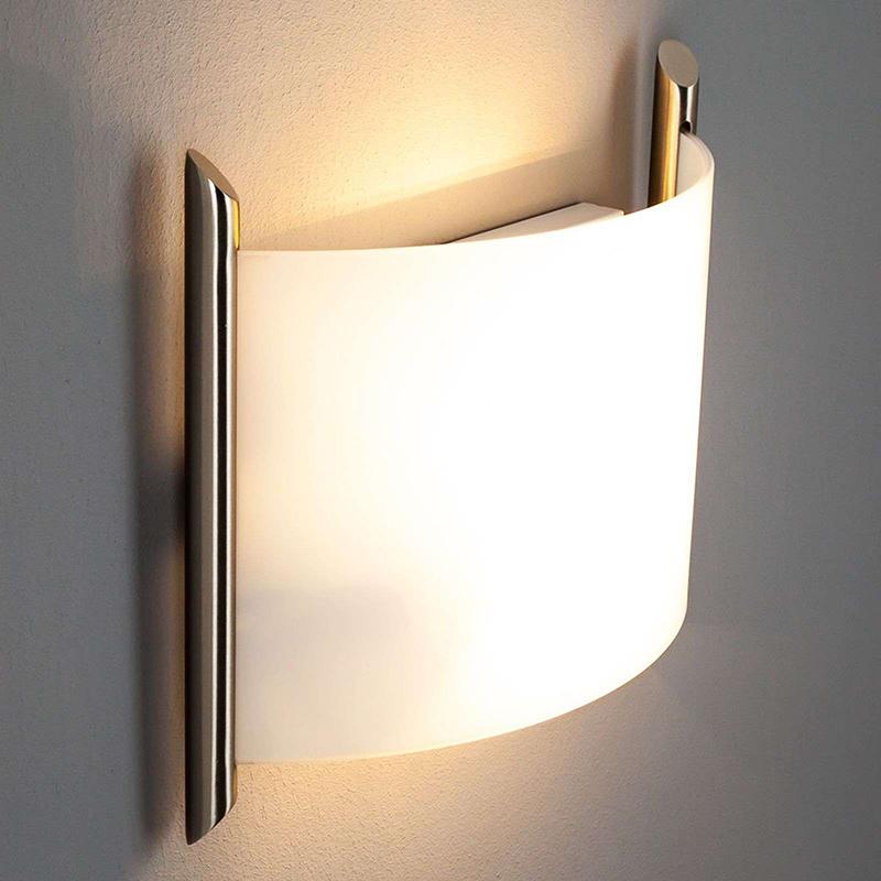 Klassieke halfronde wandlamp staal - Filippa