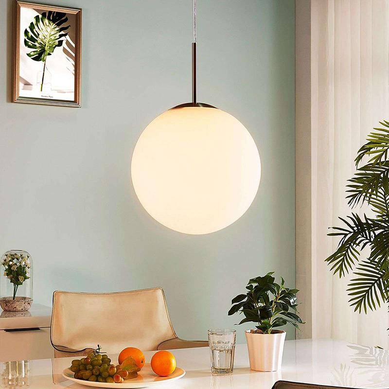 Moderne ronde hanglamp opaal glas 30 cm - Marike