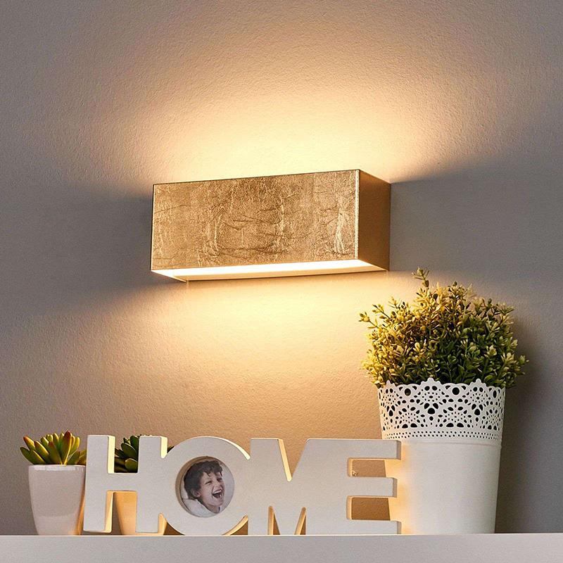 Romantische wandlamp goud 23 cm incl. LED - Quentin