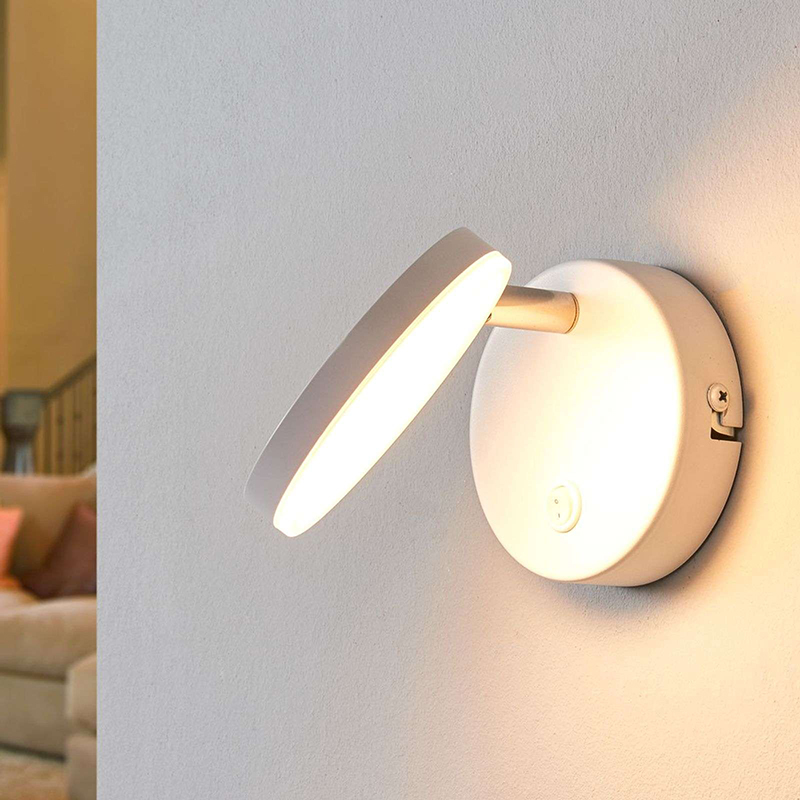 Moderne ronde wandlamp met schakelaar incl. LED - Milow