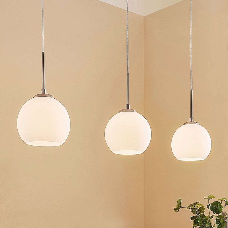 Moderne ronde 3-lichts hanglamp staal - Eloy