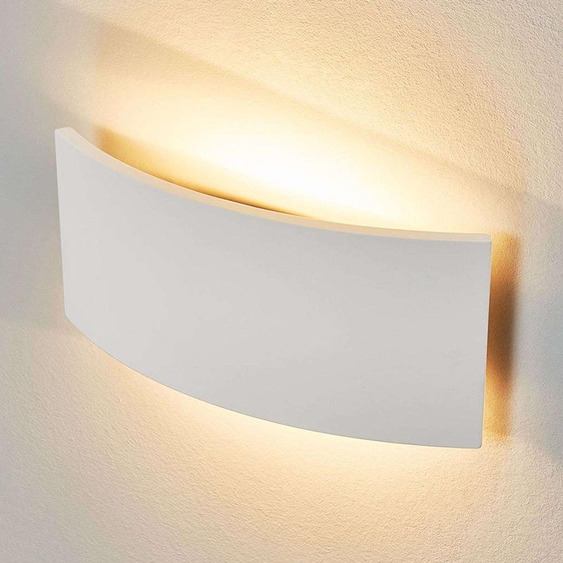Moderne halfronde wandlamp gips - Naike