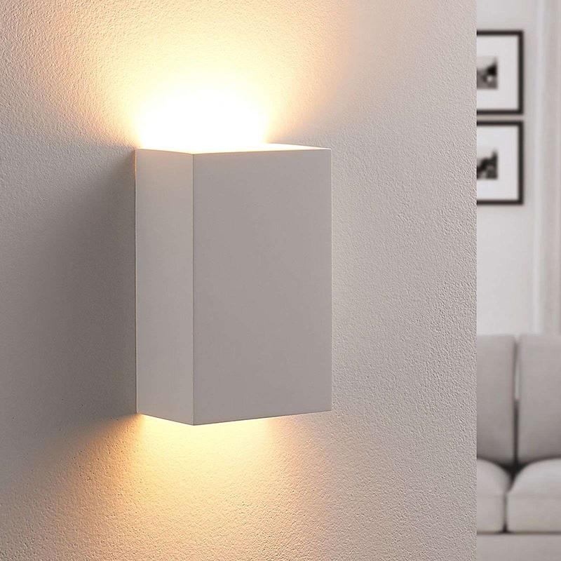 Landelijk vierkante wandlamp gips incl. 1 x G9 - Colja