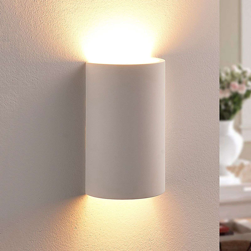 Landelijke ronde wandlamp gips incl. 1 x G9 - Colja