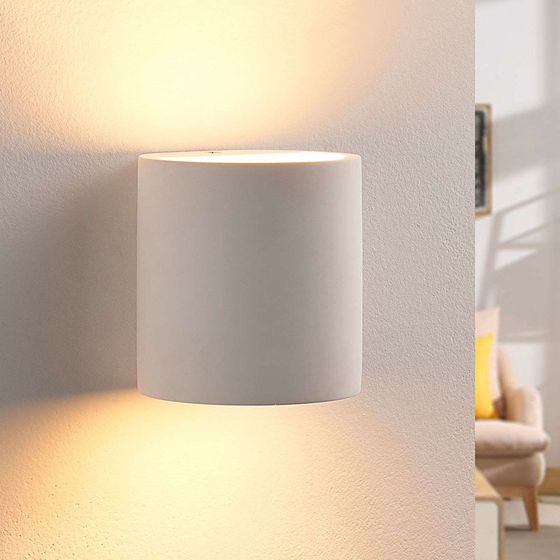 Landelijke ronde wandlamp gips incl. 1 x G9 - Krista