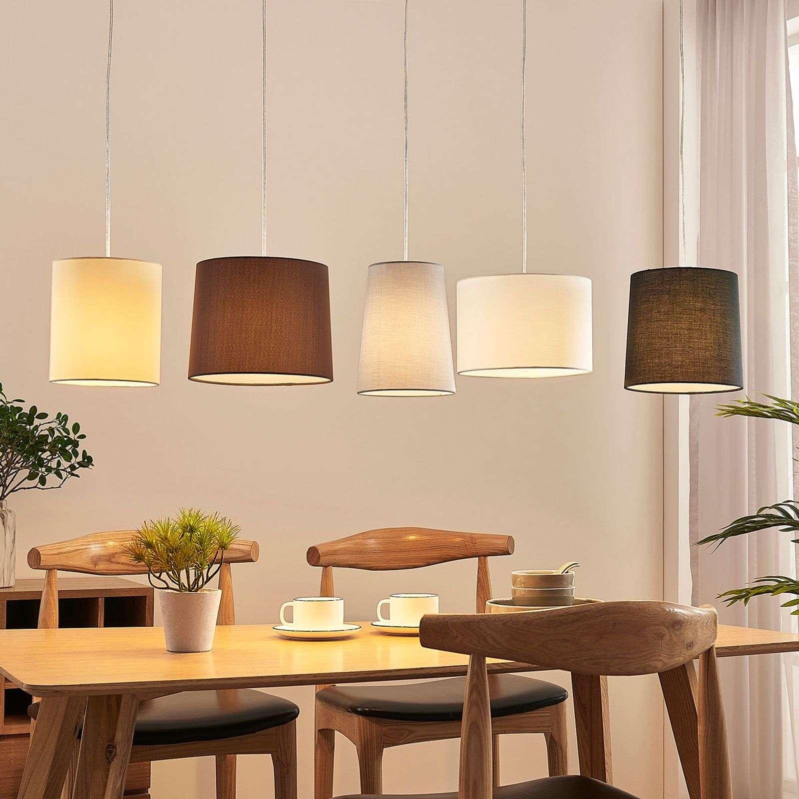 Landelijke hanglamp staal 5-lichts - Hermina