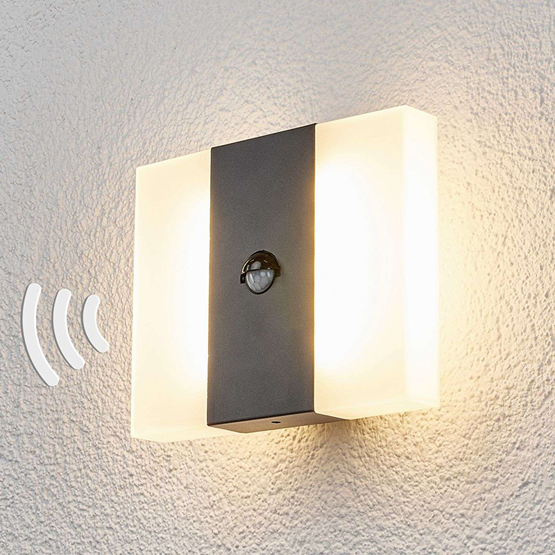 Buitenlamp antraciet met bewegingssensor incl. LED - Kumi