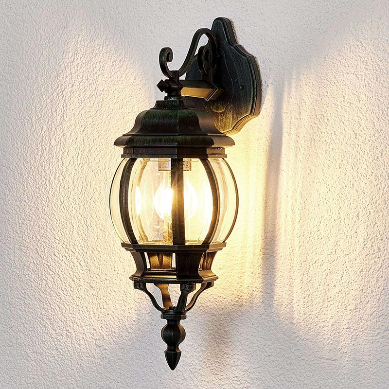 Romantische buitenlamp zwart IP44 - Theodor
