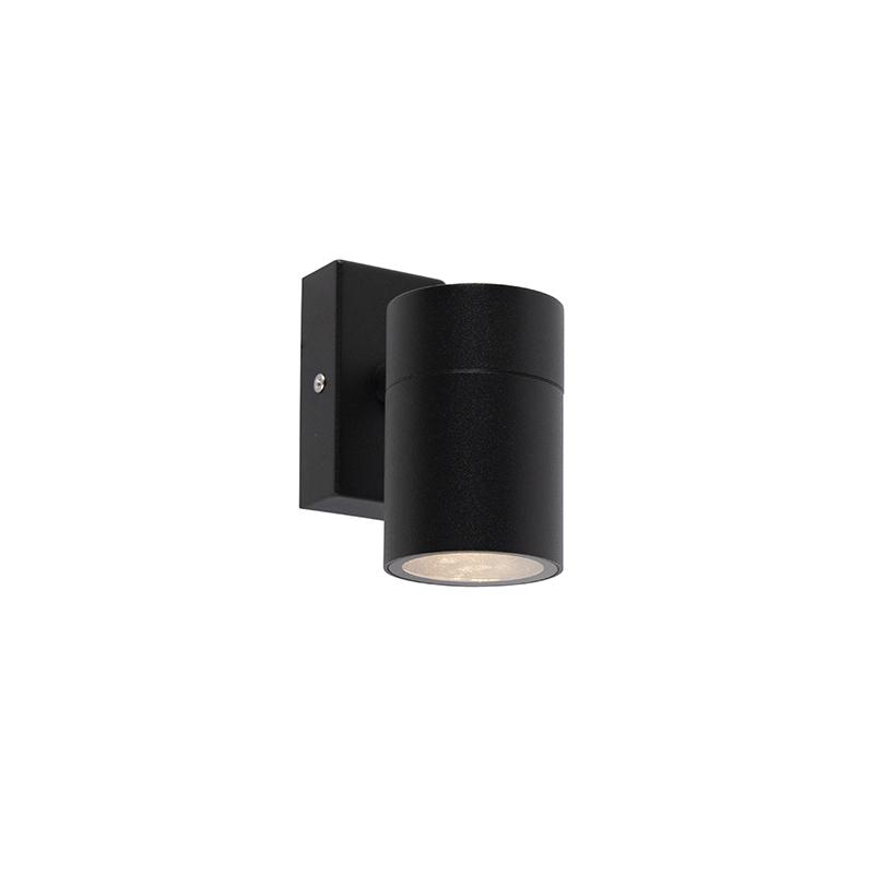 Venkovní nástěnná lampa černá nerezová ocel IP44 - Solo