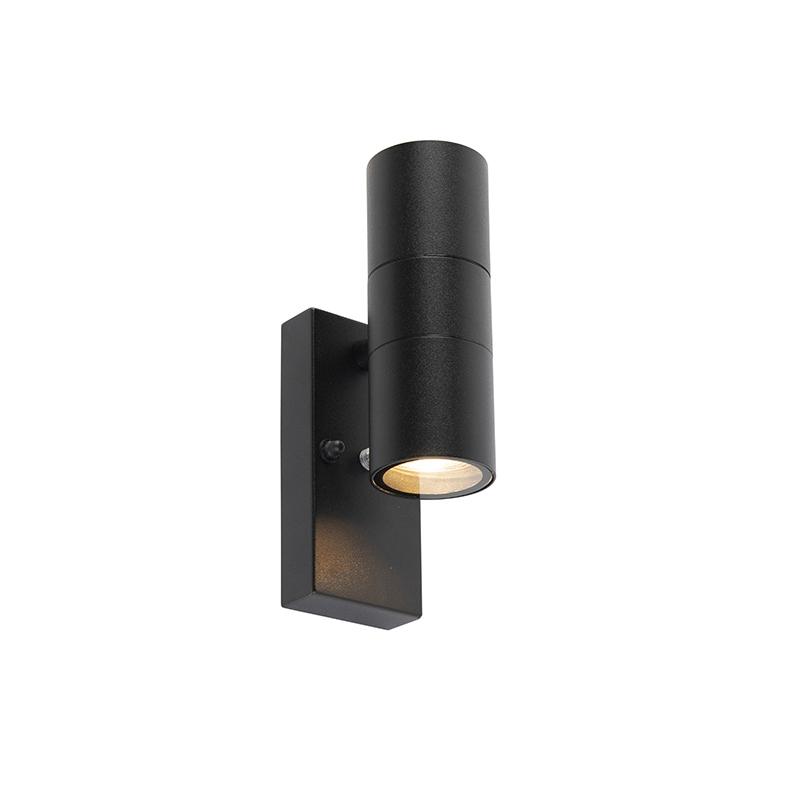 Buitenwandlamp zwart met licht-donker sensor IP44 - Duo