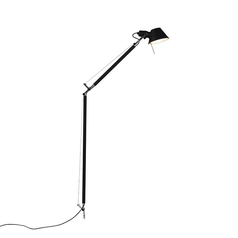 Lampa podłogowa czarna korpus - Artemide Tolomeo Lettura